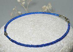 Ocean Blue Ankle chain 6.5 10.5 Czech Glass Anklet