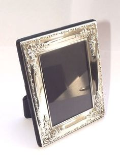 LOVELY SOLID SILVER STERLING EASEL BACK PHOTOGRAPH PICTURE FRAME SHEFFIELD 1996…