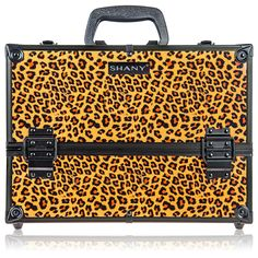 SHANY Essential Pro Makeup Train Case with Shoulder Strap and Locks - Leopard > Additional details found at the image link  : Christmas Luggage and Travel Gear