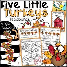 5 Little Turkeys (Thanksgiving Activities PreK)