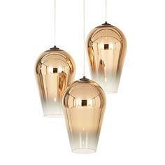 The Fade Pendant Light boasts soft forms and bold metallized finishes…