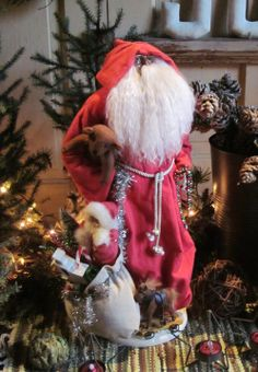 We have a great selection of collectible Santas available at The Garden Barn! Including this large Santa with bag of toys!  $99.00