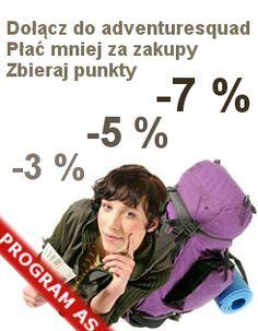 Promocja z rabatami na zalupy na http://www.adventuresquad.pl/