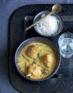 Chicken and vegetables in an aromatic coconut sauce recipe from I Love Curry by Anjum Anand | Cooked