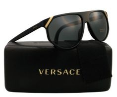 Versace Men VE4240 Black/Grey Sunglasses 61mm