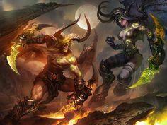 HD wallpaper: World of Warcraft, Demon Hunter, Blood Elf, Night Elves Dota Warcraft, Warcraft Art, Warcraft Legion, Fantasy World, Dark Fantasy, Fantasy Demon, World Of Warcraft Wallpaper, Dragons, Design Spartan