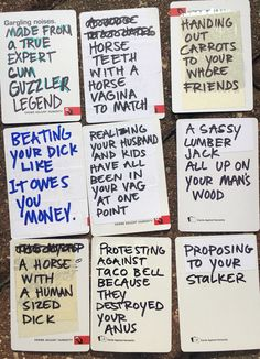 Hilarious ideas for your blank cards in cards of humanity deck. DIY your on cards of humanity expansion