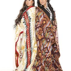 Mother & Daughter wrapped up in Pendleton. Photo by Dave Laus for @taratarbell @Myatarbell97 #niawenskincare #firstnations #pendleton  #motherdaughter #woolblanket #madeinusa see more at blog.pendleton-usa.com