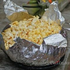 Easy campfire popcorn with jiffy pop http://thegardeningcook.com/camping-foods/