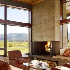 Modern Fireplace Walkaround Design, Pictures, Remodel, Decor and Ideas - page 4