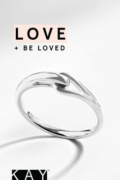 The interlocking loops in a Love + Be Loved ring represent the inseparable bond that two people share.