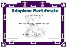 Toy Adoption Certificate Template : 13+ Free Word Templates inside Toy Adoption Certificate Template – Amazing Certificate Template Ideas Blank Certificate Template, Certificate Format, Adoption Certificate, Printable Certificates, Graduation Templates, Plastic Playing Cards, Pre K Graduation, Word Templates, Homeschool