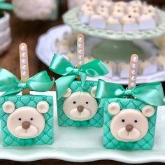 pumpkin mug cake Baby Shower Lollipops, Baby Shower Cakes, Baby Shower Parties, Baby Shower Themes, Teddy Bear Cookies, Baby Cookies, Cut Out Cookies, Bolo Mickey, Brownie Pops