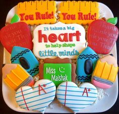 Jackie Williams Broome:  Teacher Appreciation decorated cookies for a special teacher.