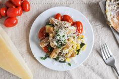 Brown Butter Garden Vegetable Pasta Skillet | How Sweet It Is