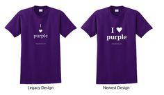 Purple T-Shirt - I Heart Purple