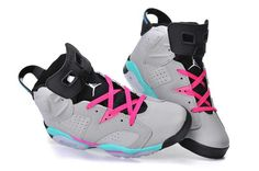 online retailer 14a3e 2e6e9 Nike Air Jordan 6 Mens Couple Grey Black Pink Shoes Nike Air Max 2, Nike
