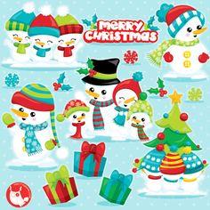 80% OFF SALE Snowman clipart commercial use, snowman vector graphics, Christmas snowman digital clip art, digital images  - CL1041 by Prettygrafikdesign on Etsy
