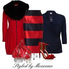 Pencil Skirt Outfit, created by mozeemo on Polyvore
