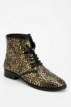 Deena & Ozzy Embellished Lace-Up Ankle Boot #urbanoutfitters