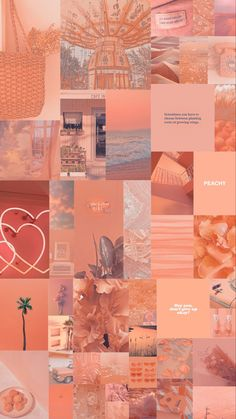 Aesthetic Collage, Aesthetic Photo, Aesthetic Pictures, Aesthetic Iphone Wallpaper, Aesthetic Wallpapers, Peach Wallpaper, Orange Aesthetic, Phone Themes, Pretty Wallpapers