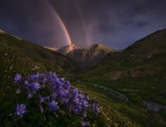 When rainbows get in the way of the mountain views. San Juan Mountains.