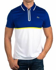 Polo Lacoste Sport Hombre - Azul Frances Polo Shirt Style, Polo Shirt Outfits, Polo Shirt Design, Mens Polo T Shirts, Black Polo Shirt, Blue Polo Shirts, Polos Lacoste, Lacoste Sport, Cool Jackets For Men