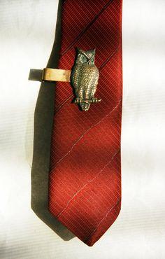 owl tie clip