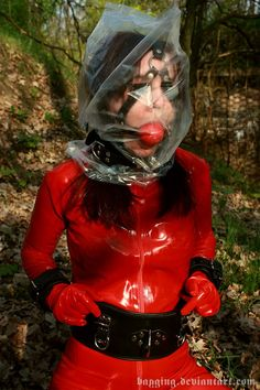 Gagged and bagged in the forest by bagging