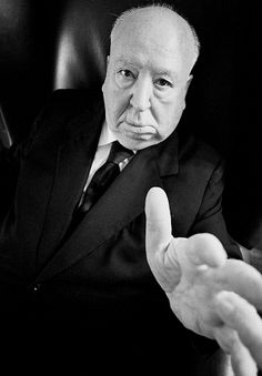 Alfred Hitchcock photographed by Ara Guler. °