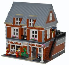 LEGO Ideas - Modular Veterinary with Apartment and Woodworking Shop