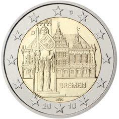 Alemania 2 euros conmemorativos (Especial) 2010 (5 cecas)