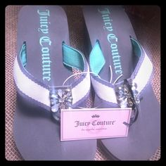 Juicy Couture flip flops Brand new authentic juicy couture flip flops! I have size s(5-6) and L (9-10). Comment what size you would like and I'll make a listing for you Juicy Couture Shoes Sandals