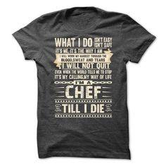chef T Shirts, Hoodies, Sweatshirts. CHECK PRICE ==► https://www.sunfrog.com/LifeStyle/chef-job.html?41382