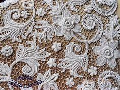 Resultado de imagem para vestido de noiva em croche irlandes