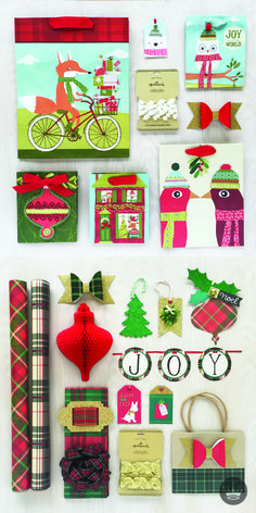 Create your own personalized gift wrap look by mixing and matching ...