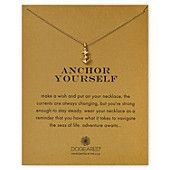 """Dogeared Anchor Yourself Necklace, 18"""""""