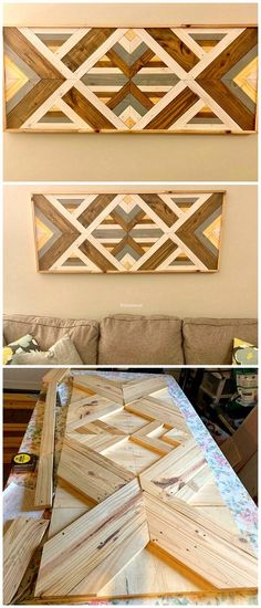 Latest Furniture Ideas With Shipping Pallets – decoration Pallet Home Decor, Diy Pallet Projects, Wood Projects, Pallet Crafts, Mural Wall Art, Diy Wall Art, Wall Art Decor, Ana White, Art Furniture