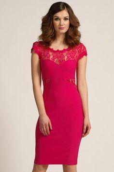 e13ce679a1cf Paper Dolls Pink Lace Detail Bodycon Dress Pink Lace