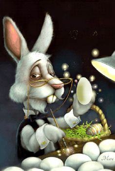 ♥ EASTER BUNNY AT WORK