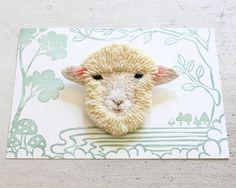 Darmowa wysyłka filcu haft broszka - Owce - zdjęcie 1