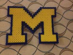 UofM University of Michigan perler bead pattern cross stitch pattern