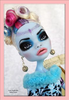 Luna  OOAK Custom Monster High Abbey Bominable by IvyHeartDesigns