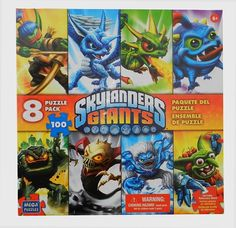 Puzzle Skylanders Giants - Pack 8 puzzles - Puzzles dessins animés