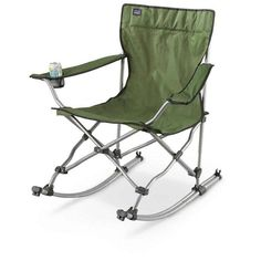 Leisure Time with Best Lawn Chair Design  sc 1 st  Pinterest & Coleman® Quad Chair Rocker ~ rocking chair by a campfire such a ...