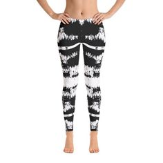 Excited to share this item from my shop: Striped Pattern White Black Unique Designer Womens Leggings Lines Black White Bottom ,High Waist Yoga Shorts Workout Leggings Sports Leggings, Women's Leggings, Black Leggings, Tights, Yoga Shorts, Workout Leggings, Patterned Leggings, Leggings Fashion, High Waist