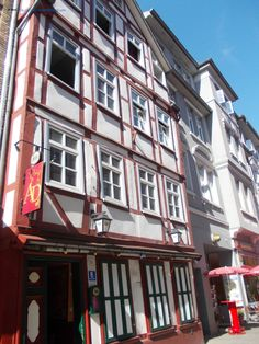 Traditional architecture in the old city Göttingen