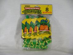 1989 TMNT Ninja Turtles Set of 8 Party Favors Blowouts New Unopened  $5.00 plus 5.55 shipping  (could always buy regular blowouts at dollar store and make my own covers...)