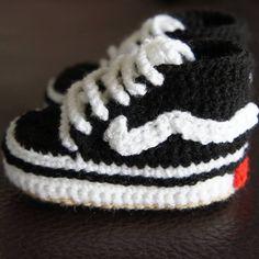 Cute crochet Vans shoes for babies :) - www.facebook.com/IvkinKutak