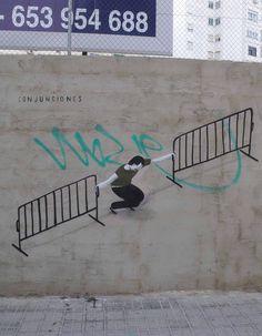 Escif street art Valencia conjunctions